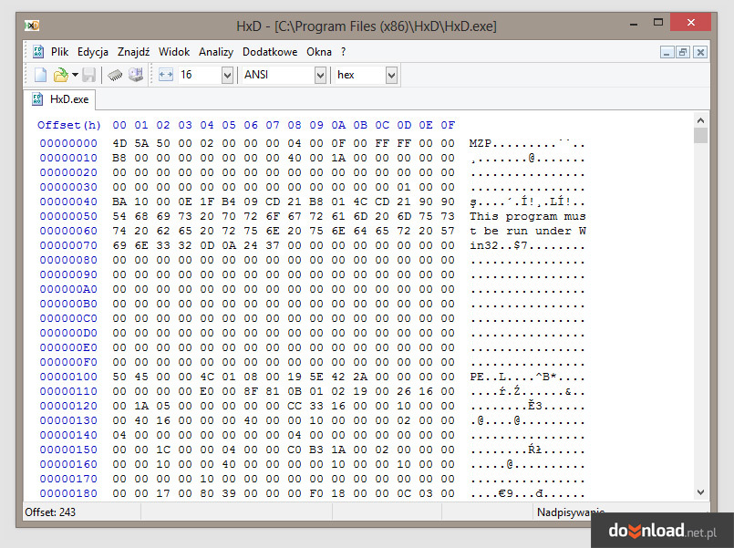 HxD Hex Editor 1.7.7.0 Download