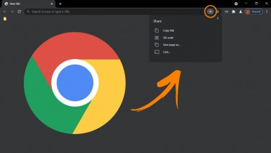 How to enable the Sharing Hub in Google Chrome.