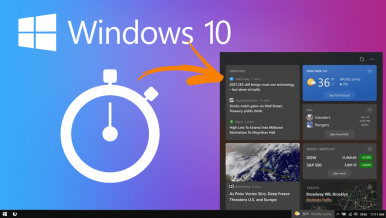 How to reduce News and Interests update frequency on Windows 10.