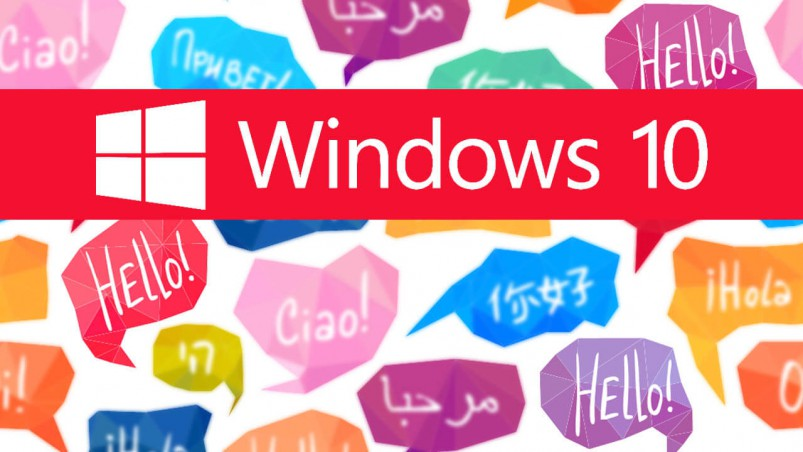 How to remove the ability to change languages on Windows 10.