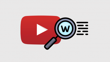How to search YouTube videos for specific words.