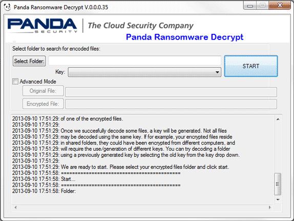 Panda Ransomware Decrypt 0 0 0 35 | File Archivers