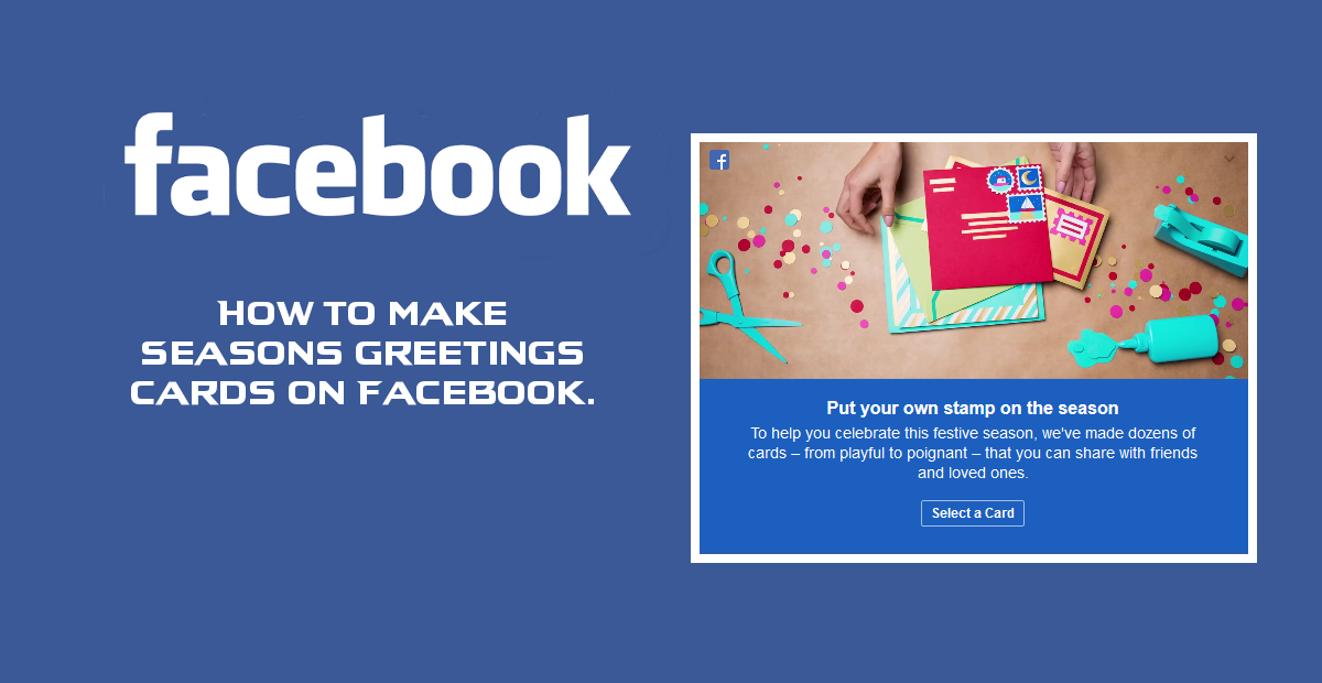 Make Facebook Cards Season Greeting Friend Family
