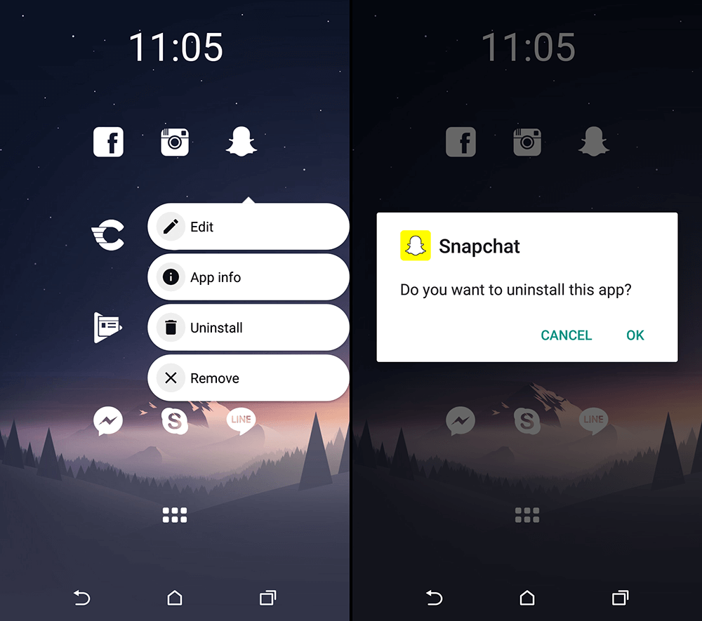 how to go back to an older version of snapchat