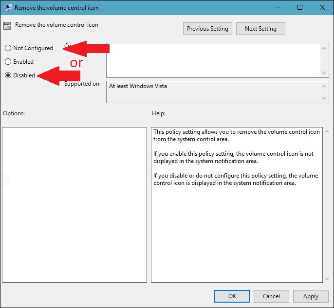 how to add volume icon to taskbar windows 10