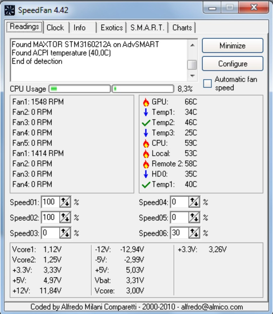 Fan Control Software Windows 7 : Speedfan monitoring