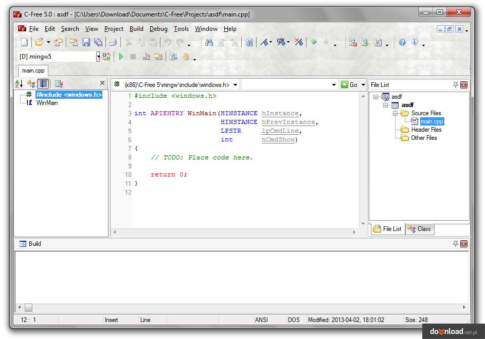 C-Free 5.0 Pro | Development environments