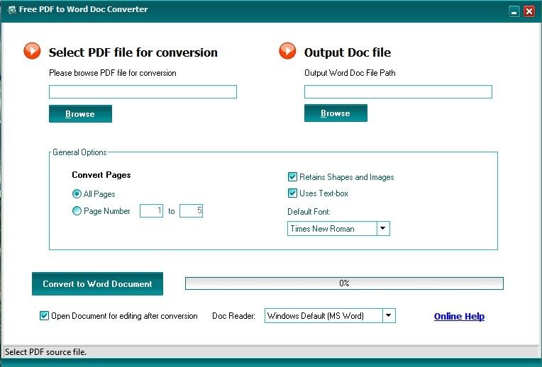 Free pdf to word doc converter download.