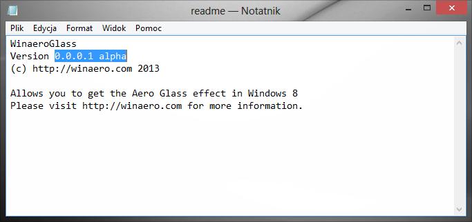 WinaeroGlass 0.0.0.1 alpha | System Themes