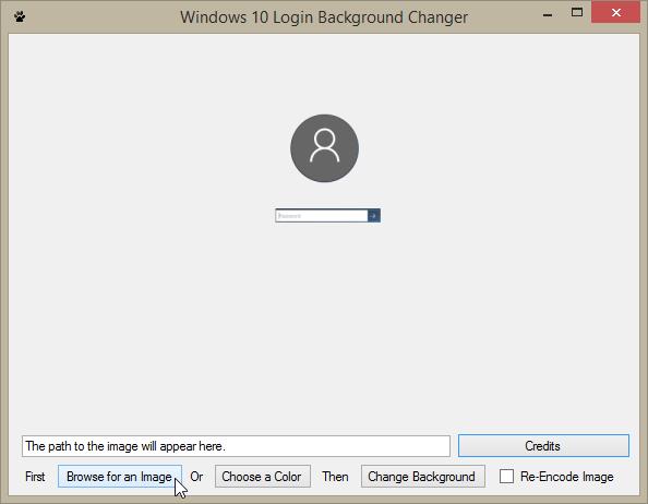 windows logon screen changer