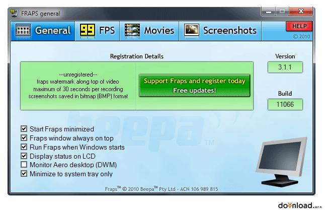 Fraps 3 5 9 version 32-bit ENG | Video capture