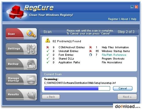 Regcure 3.0.2 license