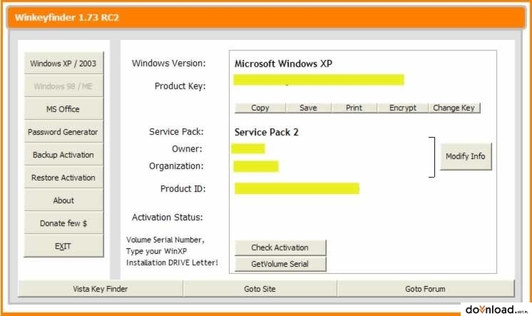 Win KeyFinder 1 75 version 32-bit | Password Recovery