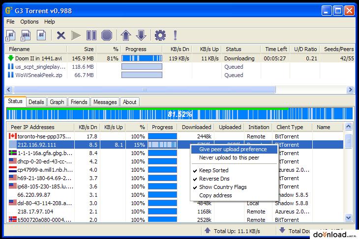 G3 Torrent 1.01 | File Sharing