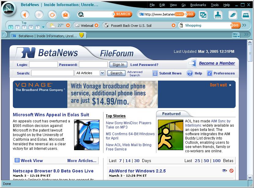 Netscape Navigator 9 0 0 6 Web Browsers
